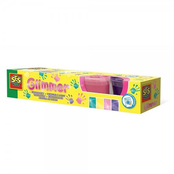 SES Creative Funkelnde Fingerfarbe, Glitzer 00314