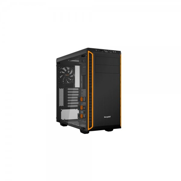 be quiet! Pure Base 600 Window PC Gehäuse Orange BGW20 gedämmt mit Seitenfenster