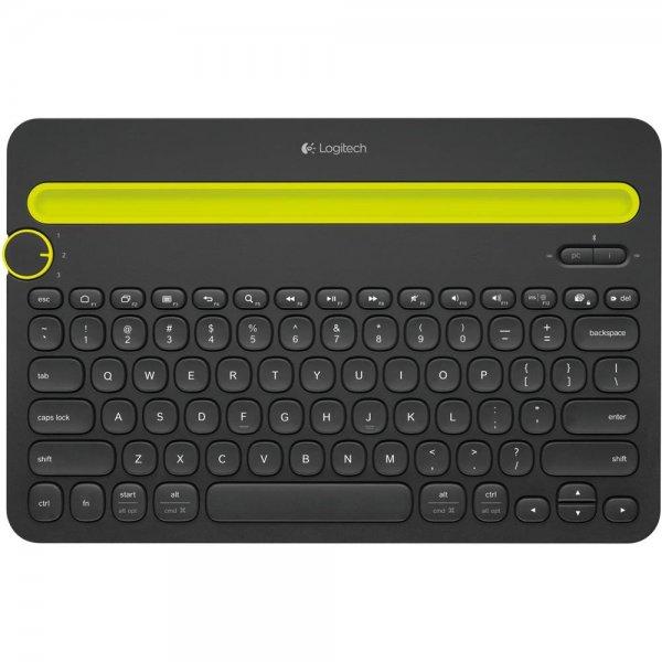 Logitech K480 Bluetooth Keyboard Tablet PC Smartphone Tastatur schwarz deutsch