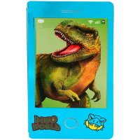 Depesche 11412 - Mini Malbuch Dino World kleines Malbuch im Handylook mit Dinosaurier Wackelbild sortiert