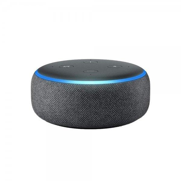 Amazon Echo Dot (3. Generation) intelligenter Lautsprecher mit Alexa Anthrazit-Stoff