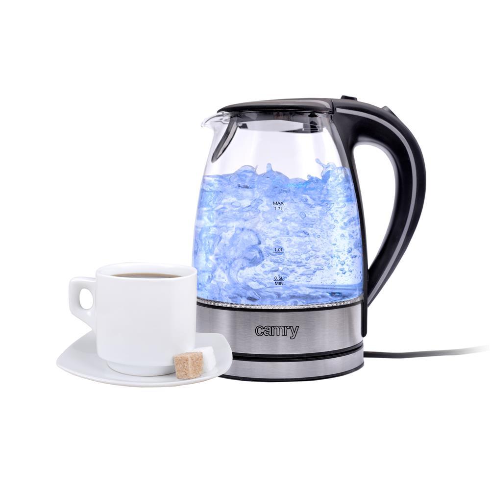 Glas Wasserkocher 1,7 Liter 2000 Watt LED Haushaltsgeräte Kleingeräte Küche
