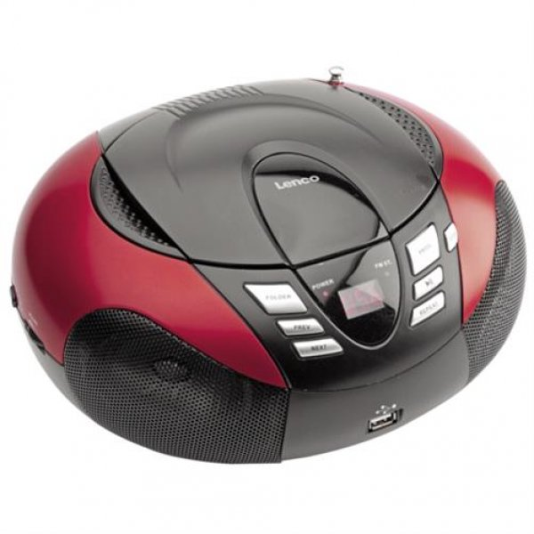 Lenco SCD-37 USB - Tragbares Stereoradio - Radio / CD / # SCD37USBP