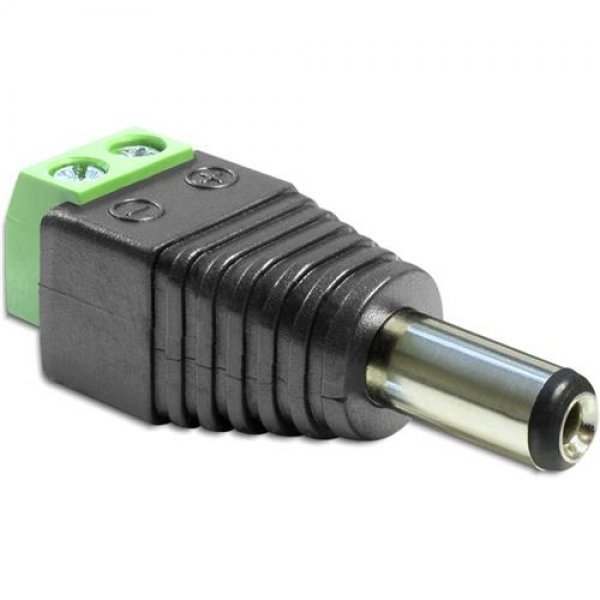 Delock Adapter DC 2,5 x 5,5 mm Stecker > Terminalblock # 65487