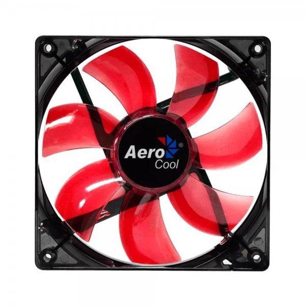 Aerocool Lightning LED Lüfter rot 120mm Computergehäuse 12cm