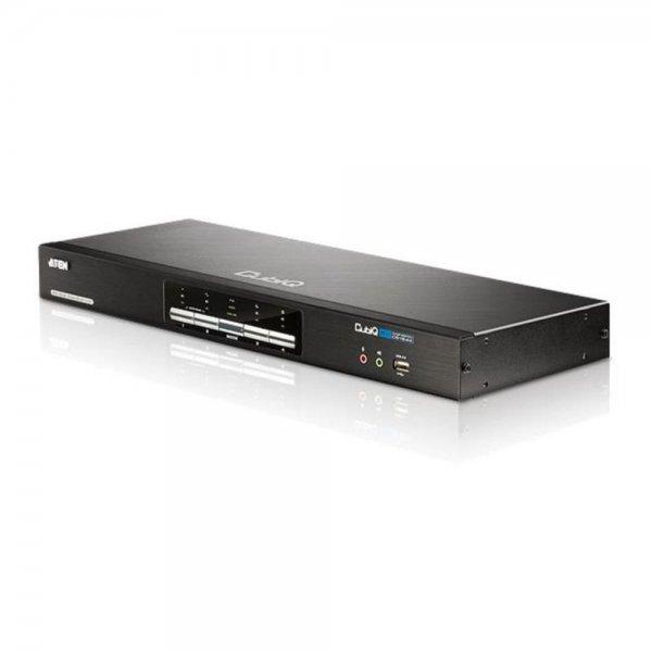 ATEN CubiQ KVM Switch 4 Anschlüsse DVI USB Audio