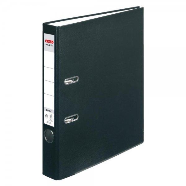 Herlitz Ordner maX.file protect A4 5cm schwarz