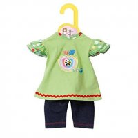 Zapf Creation 870068 Dolly Moda Shirt mit Leggings Puppen-Zubehör Baby born grün