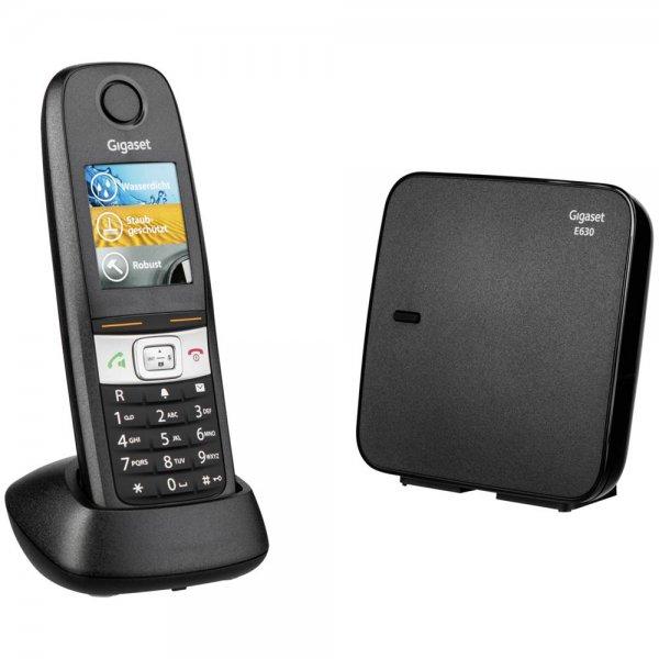 Gigaset E630 DECT-Telefon Schwarz Anrufer-Identifikation TFT ECO-DECT 300h/14h