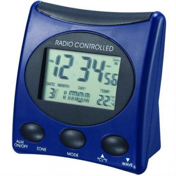 Technoline WT 221 blau Funkwecker Datum Kalender Temperatur Anzeige Beleuchtung