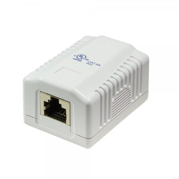LogiLink NP0073 Cat.6A Anschlussdose Aufputzbox 1x RJ45 STP