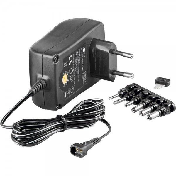 Goobay NTS 1500 Universal-Netzteil 6 Adapter 3-4,5-5-6-7,5-9-12Volt 1,5A # 67952