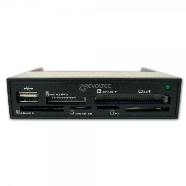 Revoltec USB Cardreader Kartenleser Frontpanel SD CF XD