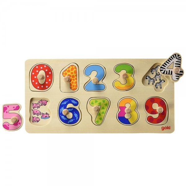 goki 57480 - Hintergrundbildpuzzle Lerne zählen