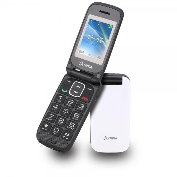 Olympia Classic Mini II Großtasten-Mobiltelefon Weiß Farb-LCD-Display Grosstastenhandy Seniorenhandy