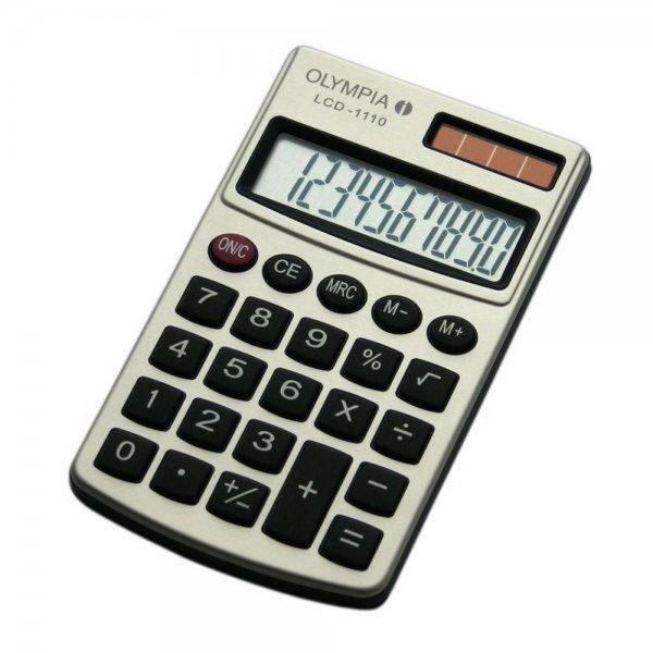 Olympia LCD-1110 Taschenrechner silber 10-stelliges Display #941901000