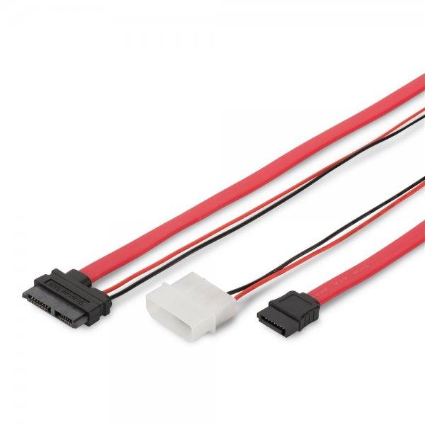 SATA Anschlusskabel, SATA 13pin/St - SATA 7pin, L-type/ # AK-400114-005-R