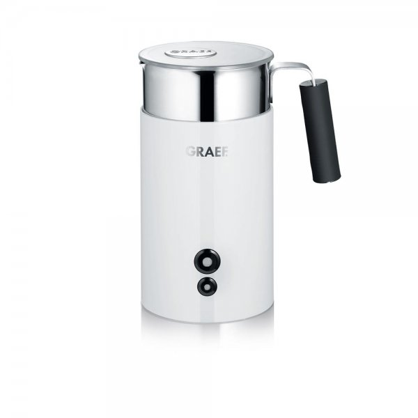 Graef Milchaufschäumer MS 701 Weiß Edelstahl Milchschäumer 450W Latte Macchiato