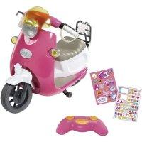 Zapf Creation 824771 BABY born City RC Scooter Motorroller Puppenzubehör 43 cm pink weiß Roller