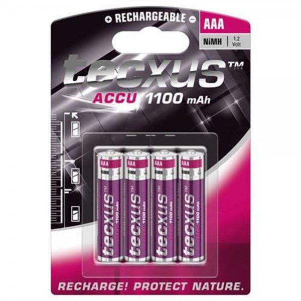 Tecxus 23744 Akku AAA NiMH Micro 1,2V 1100mAh 4er Blister aufladbar