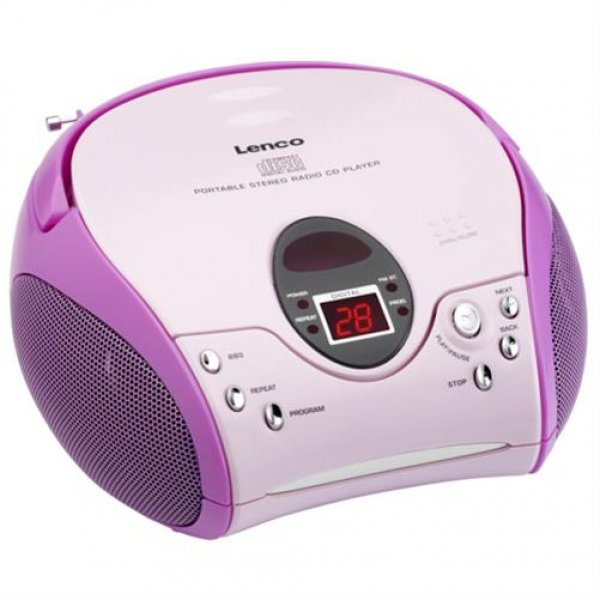 Lenco SCD-24 MP3 pink