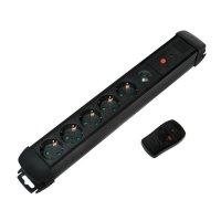 LogiLink LPS401 5-fach Steckdosenleiste + Fernbedienung beleuchteter Schalter