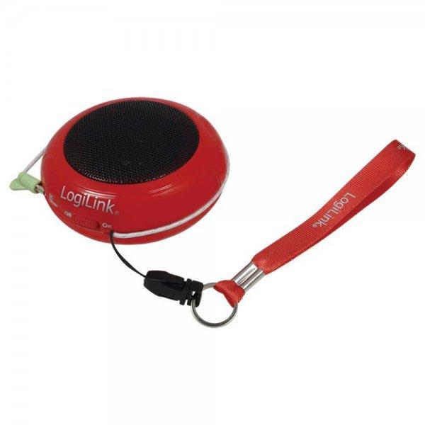 LogiLink SP0015 Portabler Aktivlautsprecher mit Akku rot