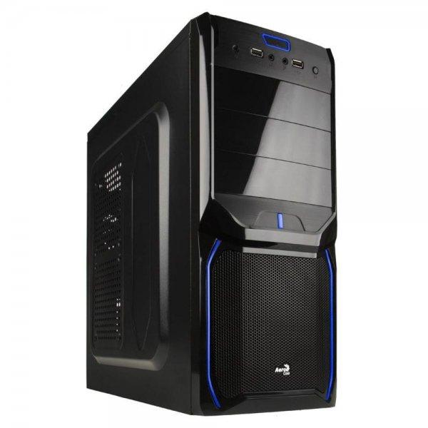 Aerocool V3X Evil Blue Edition Midi-Tower schwarz/blau