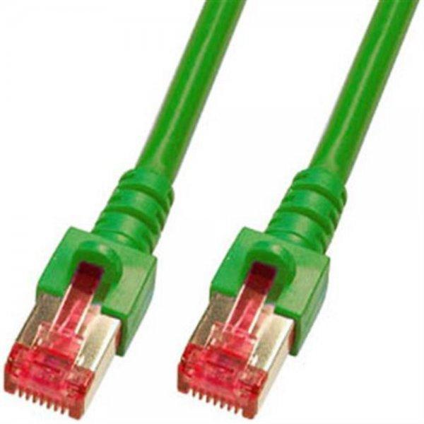 EFB Elektronik Patchkabel 7,5m Cat6 2x RJ45 PIMF grün