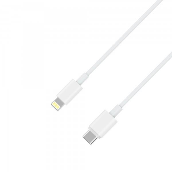 XLayer Kabel PREMIUM Typ C USB-C to Lightning MFI-zertifiziert White 1m