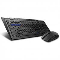 Rapoo 8200M drahtloses optisches Tastatur-Maus-Set Schwarz