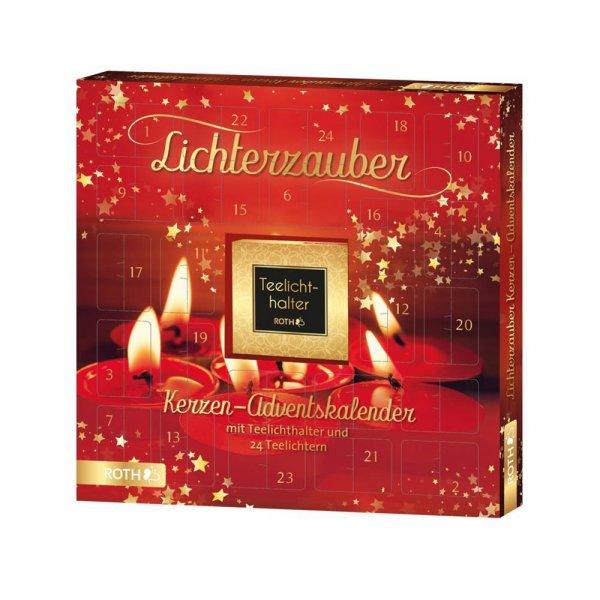 """Roth Kerzen-Adventskalender """"Lichterzauber"""" für Erwachsene mit 24 Türchen Teelichter & Kerzenhalter"""
