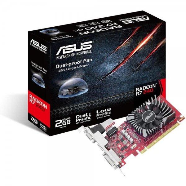 ASUS AMD Radeon R7240-2GD5-L Low-Profile-Grafikkarte R7 240 2 GB GDDR5 | B-Ware