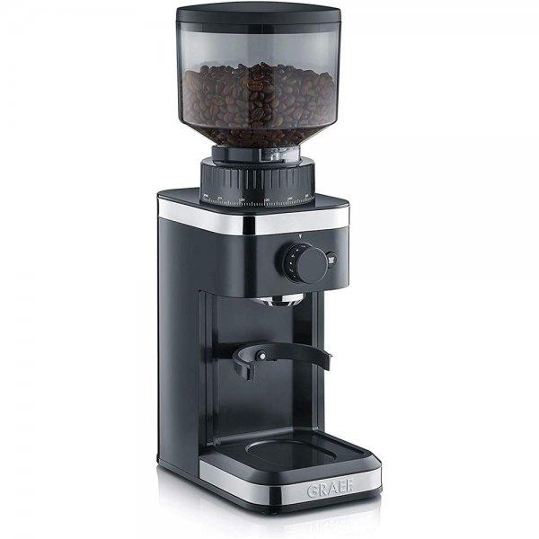 GRAEF Kaffeemühle CM 502 schwarz Kegelmahlwerk Edelstahl 140 Mahlgradeinstellungen Siebträger