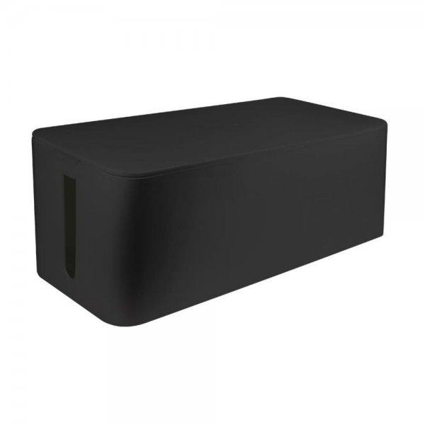 LogiLink KAB0062 Kabelbox groß 407x157x133,5mm Kabelmanager Büro Zuhause Schwarz