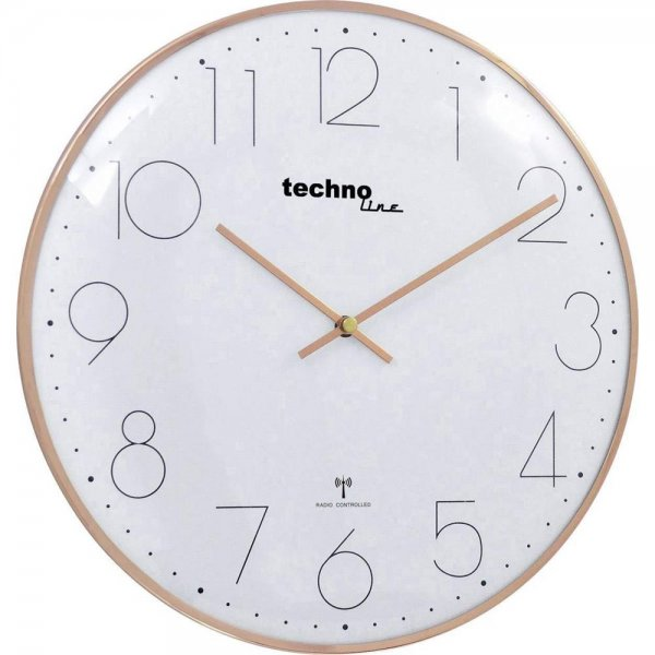 Technoline WT 8235 Funkwanduhr rosé-gold (35cm)