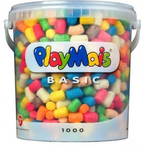 PlayMais 160027 - PlayMais Basic 1000 Eimer, über 1000 bunt basteln Schneiden Mais formen kleben