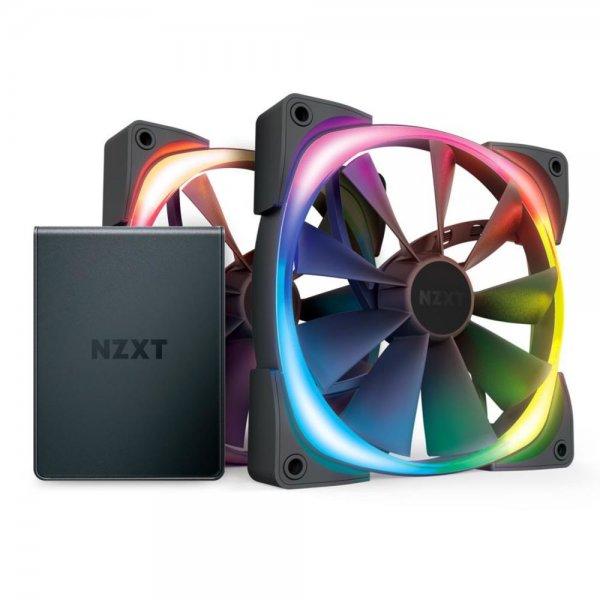 NZXT Aer RGB 2 Starter Kit LED PWM Lüfter 2x 140mm + HUE 2-Beleuchtungssteuerung