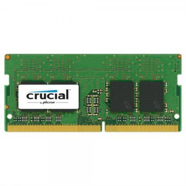 Crucial 8GB DDR4 2400 MT/s unbuf SODIMM 260pin DR x8 single ranke