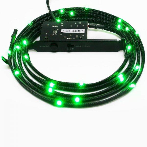 NZXT Sleeved 1m LED-Streifen 12x Grüne LEDs Gaming LED-Strip PC Case Beleuchtung