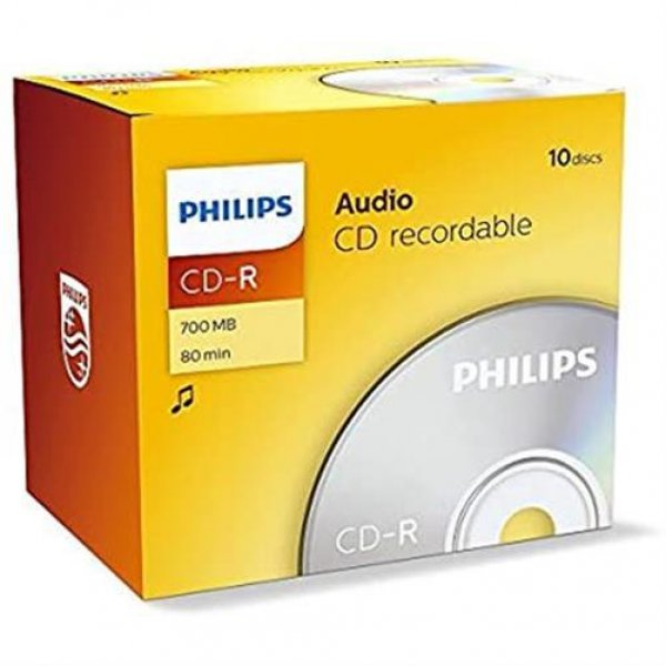 Philips 10x CD-R Rohlinge 700 MB (80 Min) Jewel Case