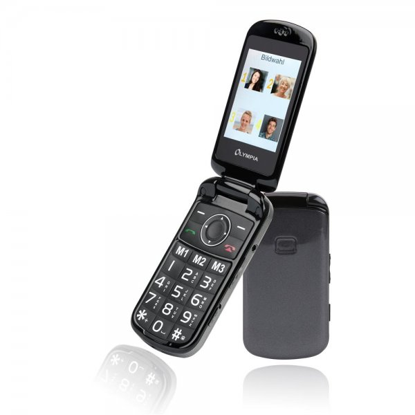 Olympia Brava Plus Großtasten-Mobiltelefon Schwarz Farb-LCD-Display Grosstastenhandy Seniorenhandy