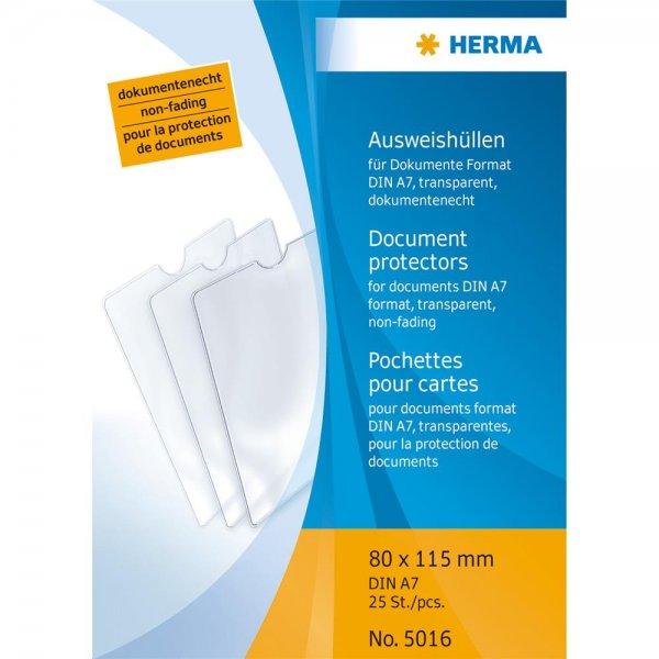 1x25 Herma Ausweishüllen 80x115 5016