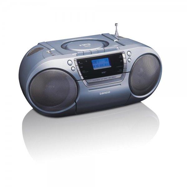 Lenco SCD-680 DAB+ FM tragbares Radio CD-Player Kassett