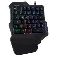 LogiLink Keyboard Einhand Gaming Tastatur beleuchtet