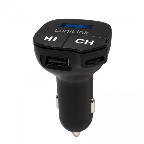 LogiLink FM0004 FM Transmitter mit MP3 Player und microSD Slot