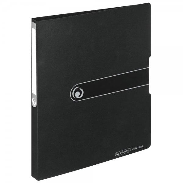 Herlitz Ringbuch PP A4 2 Ringe 16mm opak schwarz