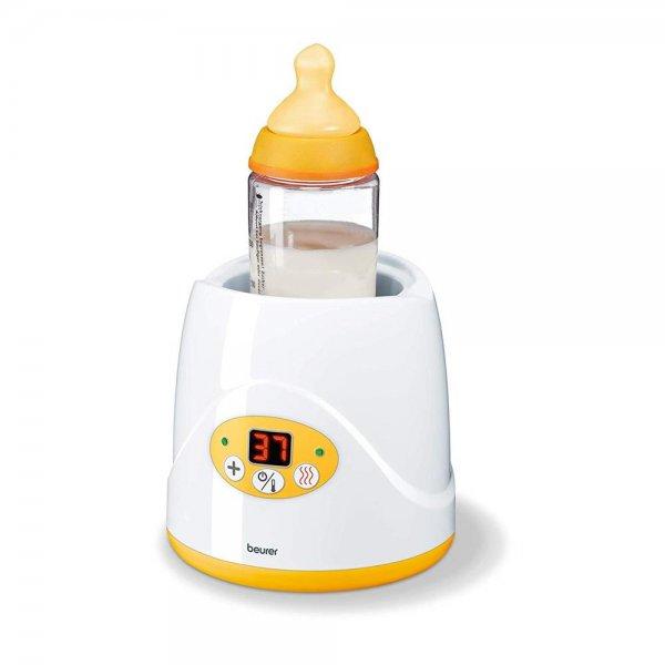 Beurer BY 52 Babykostwärmer Flaschenwärmer weiß / gelb Warmhaltefunktion LED Display Babybreiwärmer