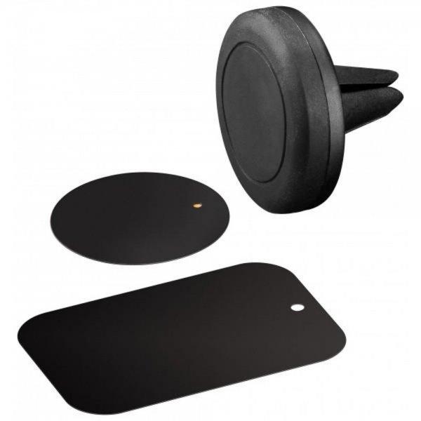 Goobay Universal Set Magnethalterung Auto Kfz schwarz für Smartphones # 47145
