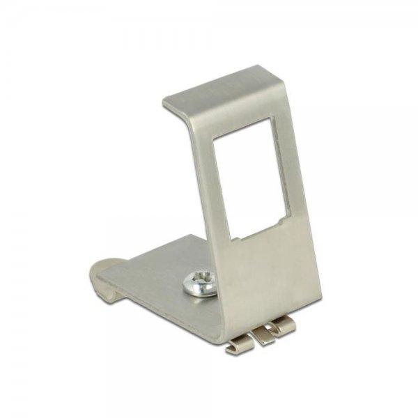 Delock Keystone Metall Halterung 1 Port für Hutschiene